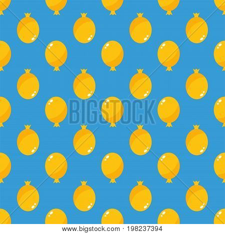 Color glossy balloons seamless pattern vector illustration. Round entertainment holiday festival happy gift. Beautiful toy party day celebrate helium color carnival tool.