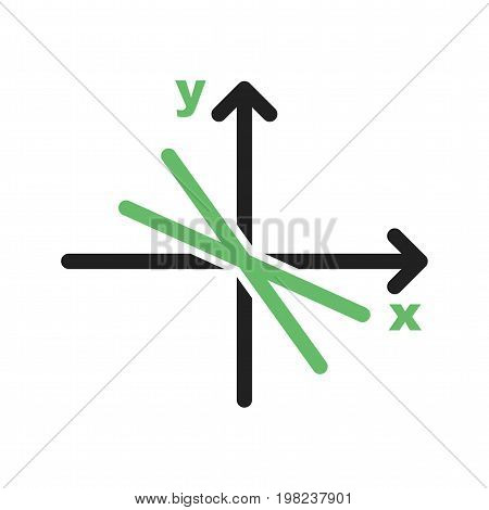 Linear, equation, mathematics icon vector image. Can also be used for Math Symbols. Suitable for use on web apps, mobile apps and print media.
