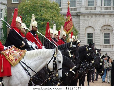 Royal horse guards in London