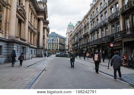Street In Brussels In 2017
