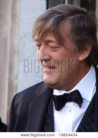 REGENT STREET, LONDON, UK - MAY 11: Stephen Fry the actor and TV presenter at launch of new product in Regent Street, London on May 11, 2009. Stephen Fry is a well known actor and TV personality.
