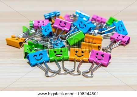 Colorful Paper Clips. Smile Paper Clips.
