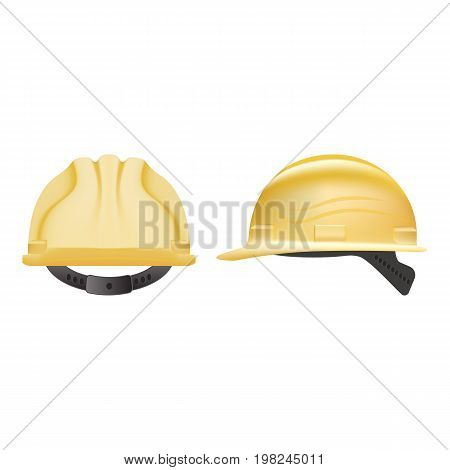 Safety Helmet. Construction Helmet Isolated On A White Background. Vector Illustration. Industrial Security. Repair Symbol