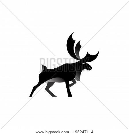 Creative deer logo design. Silhouette of animal. Stock vector