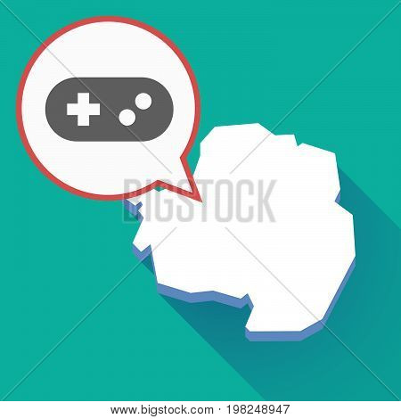 Long Shadow Antarctica Map With A Game Pad