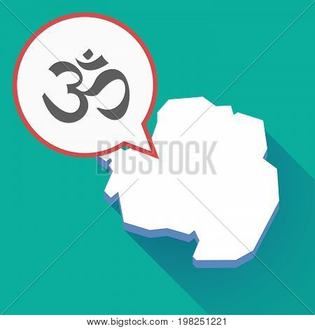 Long Shadow Antarctica Map With An Om Sign