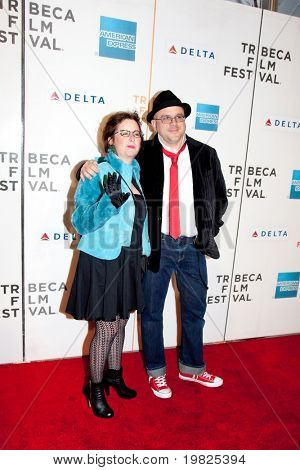 NEW YORK - APRIL 23: Kubilay Uner with guest  attends the at the premiere of 'Stay Cool'  Tribeca Film Festival on April 23, 2009 in New York.
