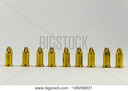 22. Ammunition For Starting Gun On White Background