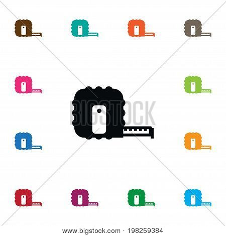 Scale Vector Element Can Be Used For Scale, Instrument, Tape Design Concept.  Isolated Instrument Icon.