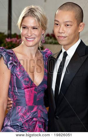NEW YORK - SEPTEMBER 21: Julie Macklowe and Jason Wu attend the Metropolitan Opera 2009-  on September 21, 2009 in New York City.