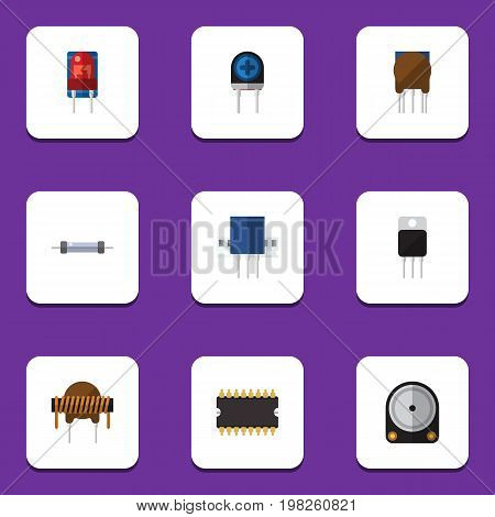Flat Icon Appliance Set Of Hdd, Receptacle, Triode And Other Vector Objects