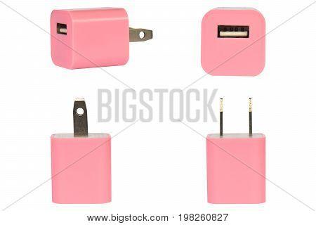 Group USB Plug on a white background