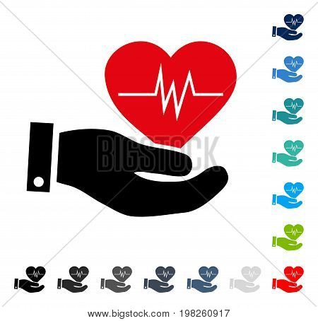 Cardiology icon. Vector illustration style is a flat iconic symbol in some color versions.
