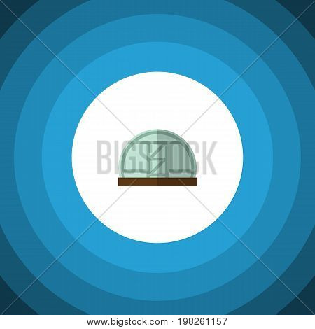 Hothouse Vector Element Can Be Used For Hothouse, Greenhouse, Farm Design Concept.  Isolated Greenhouse Flat Icon.