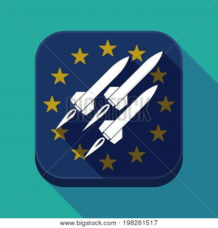 Long Shadow Eu Square Button With Missiles