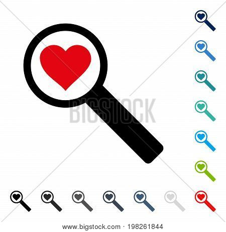 Find Love icon. Vector illustration style is a flat iconic symbol in some color versions.