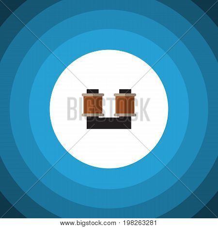 Coil Copper Vector Element Can Be Used For Spool, Coil, Copper Design Concept.  Isolated Spool Flat Icon.