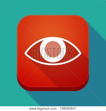 Long Shadow App Button With An Eye