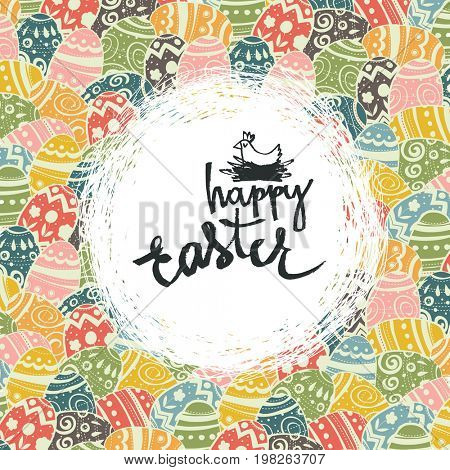 Easter eggs pattern colorful background and