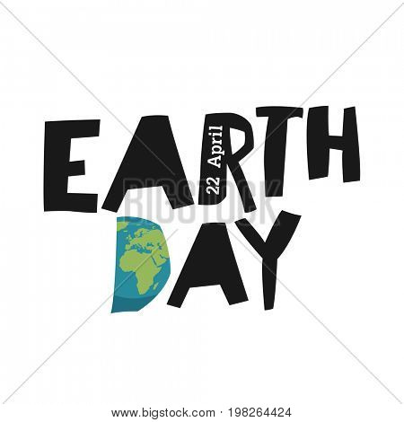 Earth day ecology logotype template. Earth planet in shape letter