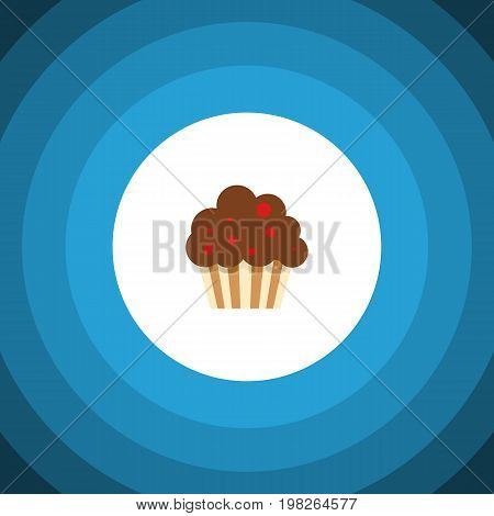 Muffin Vector Element Can Be Used For Cupcake, Muffin, Dessert Design Concept.  Isolated Cupcake Flat Icon.