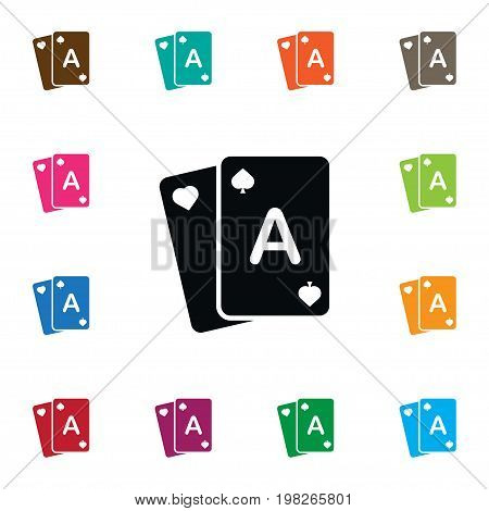 Gamble Vector Element Can Be Used For Poker, Gamble, Casino Design Concept.  Isolated Poker Icon.