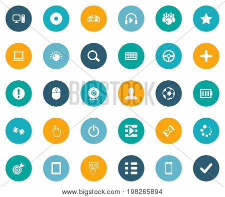 Elements Asterisk, Phone, Keyboard And Other Synonyms Racing, Check And Star.  Vector Illustration Set Of Simple Leisure Icons.
