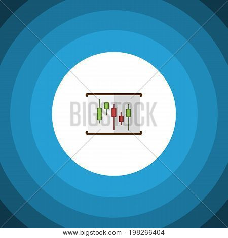 Diagram Vector Element Can Be Used For Diagram, Chart, Report Design Concept.  Isolated Chart Flat Icon.