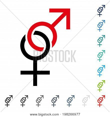 Sex Symbol icon. Vector illustration style is a flat iconic symbol in some color versions.
