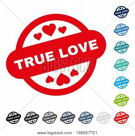 True Love Stamp Seal icon. Vector illustration style is a flat iconic symbol in some color versions.