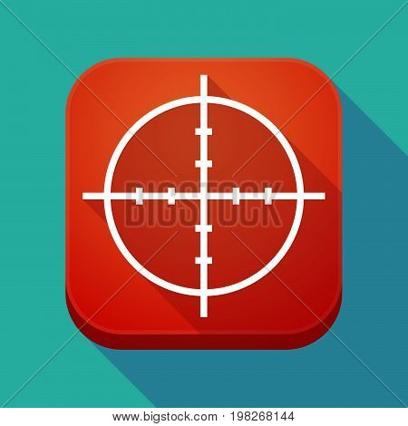 Long Shadow App Button With A Crosshair