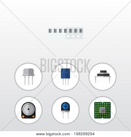 Flat Icon Electronics Set Of Receptacle, Hdd, Destination And Other Vector Objects