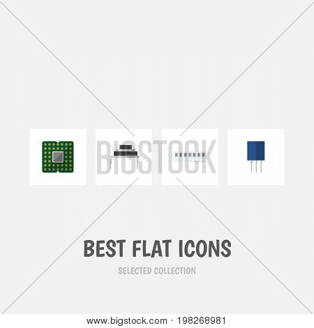Flat Icon Device Set Of Destination, Unit, Receptacle And Other Vector Objects