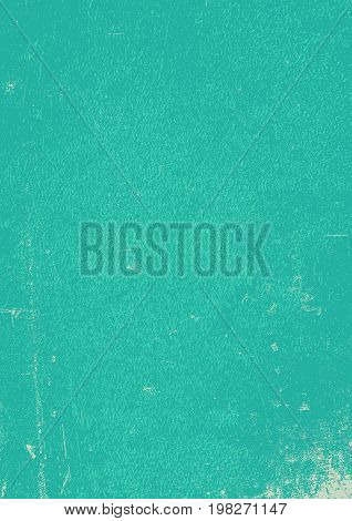 Blue grunge background. Blank aged blue paper background, vertical. A4 format, grunge textures in layers and can be edited.