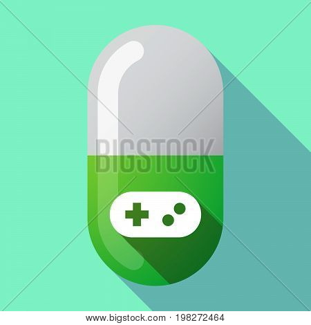 Long Shadow Pill With A Game Pad