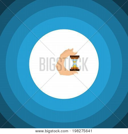 Sandglass Vector Element Can Be Used For Measurement, Hourglass, Sandglass Design Concept.  Isolated Measurement Flat Icon.