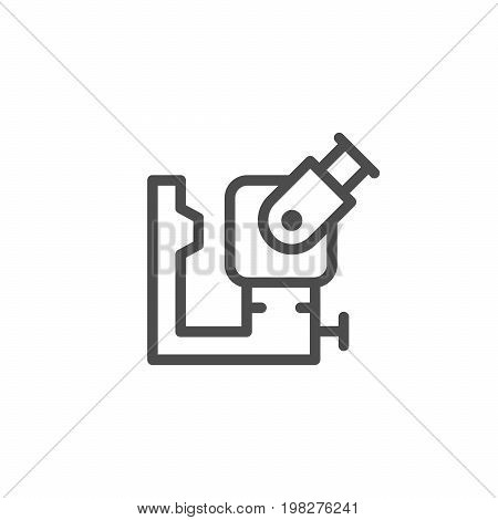 Ophthalmologic equipment line icon isolated on white. Vector illustration