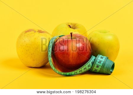 Composition Of Fruit And Tape For Measuring