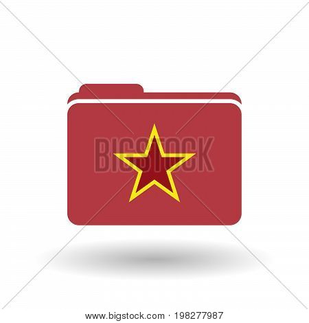 Isolated Folder With  The Red Star Of Communism Icon