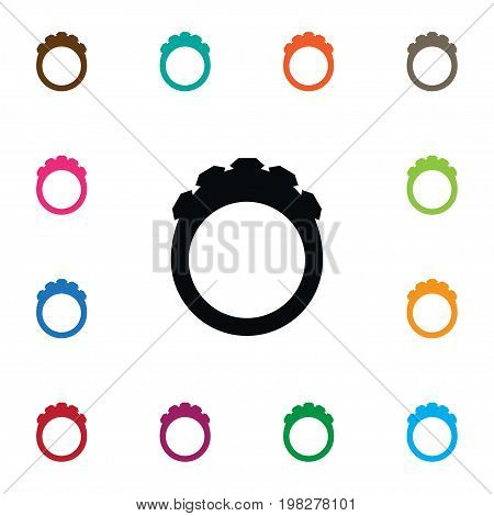 Round Vector Element Can Be Used For Crystal, Ring, Round Design Concept.  Isolated Crystal Icon.