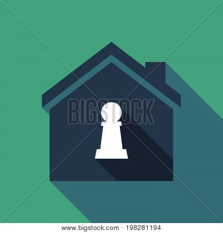 Long Shadow House With A  Pawn Chess Figure
