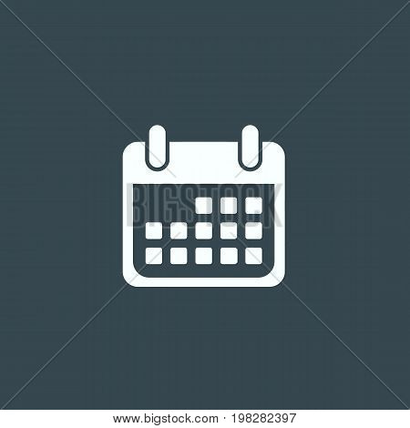 Calendar icon isolated on background. Vector stock.