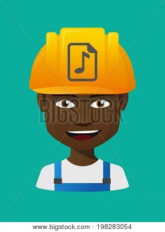 Worker Avatar With  A Music Score Icon