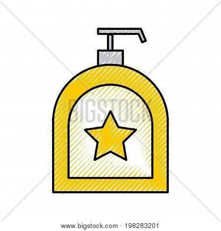 soap dispenser bottle icon vector illustration design
