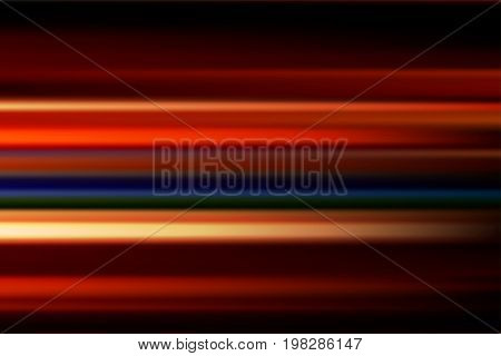 red vector abstract speed motion blur of night lights in the city long exposure background