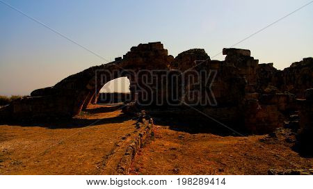 Ancient ruins of Salamis near Famagusta Nothern Cyprus