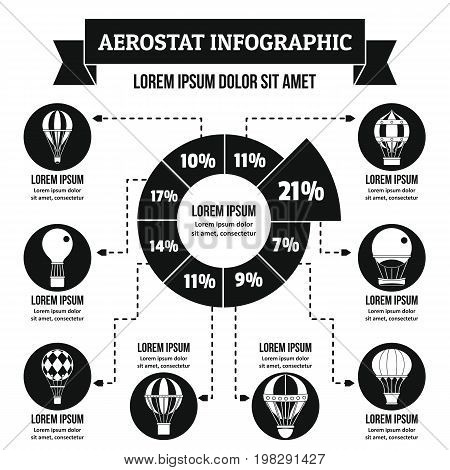 Aerostat infographic banner concept. Simple illustration of aerostat infographic vector poster concept for web