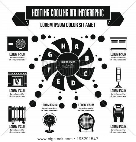 Heating cooling air infographic banner concept. Simple illustration of geating cooling air infographic vector poster concept for web