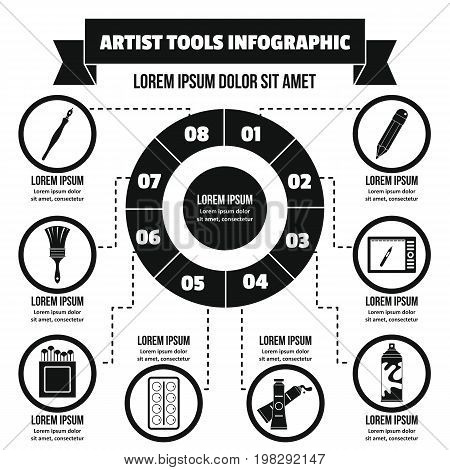 Artist tool infographic banner concept. Simple illustration of artist tool infographic vector poster concept for web