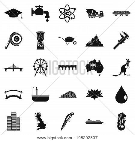Crossing icons set. Simple set of 25 crossing vector icons for web isolated on white background